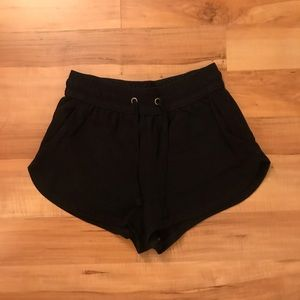 H&M basic black soft sweat shorts